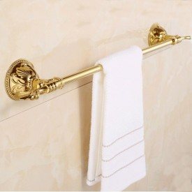 Gold Plating Bathroom Single Towel Bar