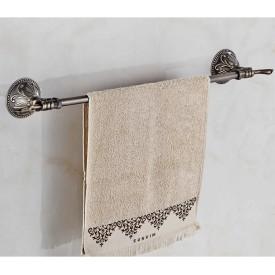Pojedynczy wieszak na ręcznik-brąz