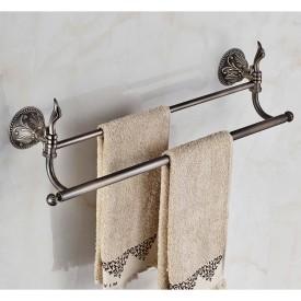 Podwójny wieszak na ręczniki mosiądz